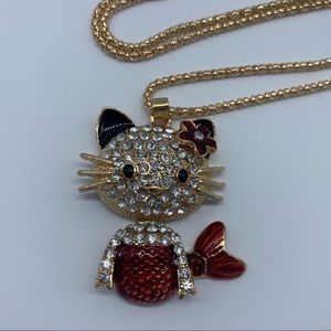 Jewelry - New red mermaid kitty cat fashion pendant necklace
